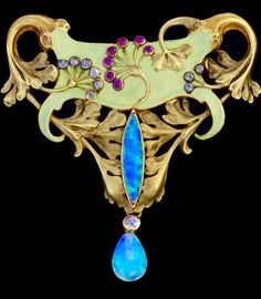 Art Nouveau Brooch signed by Antoine Bricteux
