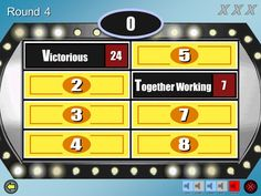 A customizable Family Feud PowerPoint game. A list of free Family Feud PowerPoint templates for teachers. Create a fun game of Family Feud for your students. Updated to include PowerPoint Group Games For Kids, Youth Games, Games For Teens, Kids Party Games, Abc Games, Teen Games, Group Activities, Elderly Activities, Senior Activities
