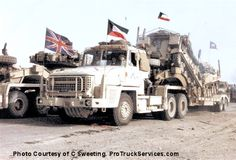 Scammell Commander Tank Transporter (Scammell only produced 128 of these 6x4 vehicles for the British Army.)