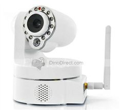 Wireless IP Security Camera - Smartphone PTZ Control, CMOS,Mobile phone browser: Android and iOS.IE 6.0, IE7.0 IE8.0 firefox 2.0, firefox 3.0, Google Chrome.Wireless Security: 64/128 bit WEP Encryption....Learn More