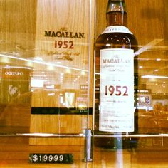 Extremely expensive whisky.