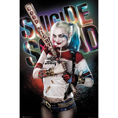 "Poster verticale ""Harley Quinn - Good Night"" di #SuicideSquad. Dimensioni: 61 x 91,5 cm."