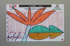 Flor de la suerte lll. Rotulador sobre papel.  10x16 cm.Disponible. FLOWER, ART, PAINTING