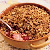 Cranberry Apple Crisp, make a berry version for my hunny and I all the time... DELICIOUS! One of my all time fav desserts, esp with vanilla ice cream.