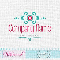 Abstract Camera 4 by WhimsicalLogoShop on Etsy, £60.00 Whimsical Logo Design by Najla Mansour RotRed