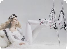 """Dreaming of Dior: """"White Fashion"""" by Damian Foxe for How to Spend It 2015 Snow Fashion, White Fashion, Fashion Shoot, Sport Editorial, Editorial Fashion, Kids Pop, Mountain Style, Sports Luxe, Fashion Photography"""