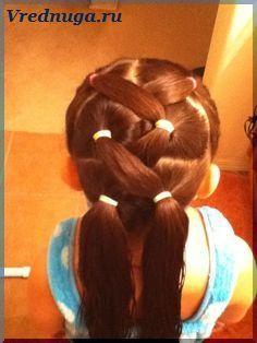 Колоски и косы - прически для девочек #little #girl #hairstyle