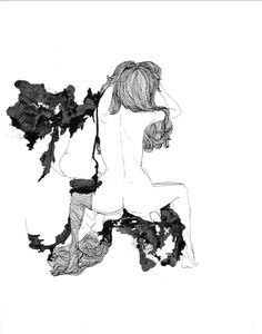 artist: Carmela Cucuzzella, ink on paper My Drawings, Nude, Ink, Paper, Artist, Artists, India Ink