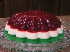 Layered Christmas Jello - I have made this and it is so good!