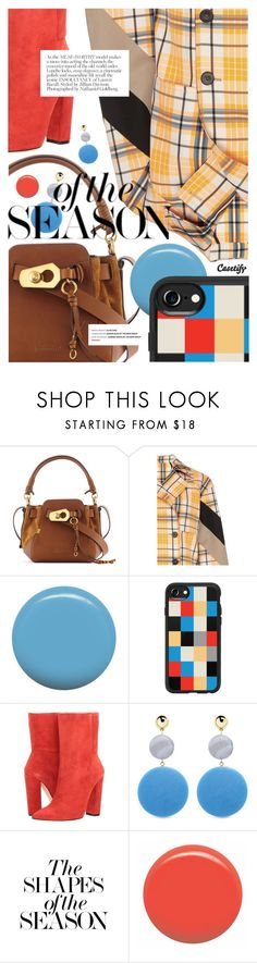 """""""Mixed Prints for Fall featuring CASETIFY.com"""" by cultofsharon ❤ liked on Polyvore featuring MSGM, Jin Soon, Casetify, Racine Carrée, Elizabeth and James and JINsoon"""