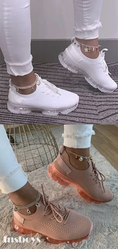 STUPS ROSHE BABY ROSE METALLIC Grey Print Kinder Mädchen Sneaker Rosa