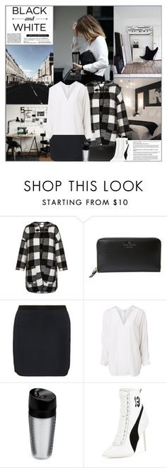 """Black and White"" by kittyfantastica ❤ liked on Polyvore featuring Kate Spade, Isabel Marant, Witchery, OXO and Puma"