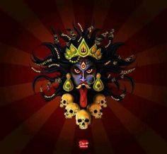 the Goddess Kali Kali Tattoo, Kali Puja, Ninja Shadow, Hindu Worship, Vaishno Devi, Lord Shiva Pics, Ganesha Pictures, Kali Goddess, Lord Shiva Painting