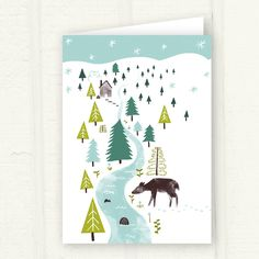 Winter Wonderland greeting card by @thispapership. must have!