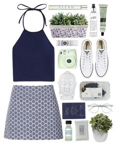 """""""All around the world"""" by child-of-the-tropics ❤ liked on Polyvore featuring Topshop, Forever 21, Passport, philosophy, Nearly Natural, Stila, CLEAN, Converse, Wildfox and Aesop"""
