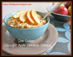 365 Days of Slow Cooking: Recipe Highlight from Archives Past: Overnight Apple Steel Cut Oats