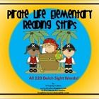 Pirate Life Elementary Reading Strips- All 220 Dolch Words