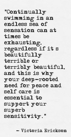 ...deep-rooted need for peace and self care....