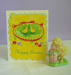 Vintage Easter Chicks Card by TwoBranchingOut on Etsy, $2.50