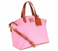 Dooney & Bourke Eva Coated Cotton Satchel. Can't wait to get this purse. Worth the splurge.