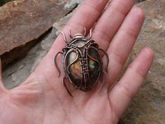 Amazing copper beetle by this Russian wire worker