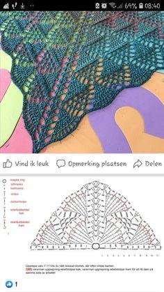 Crochet Bolero, Crochet Shawl Diagram, Crochet Lace Edging, Crochet Shawls And Wraps, Crochet Chart, Crochet Stitches, Knit Crochet, Shawl Patterns, Crochet Accessories