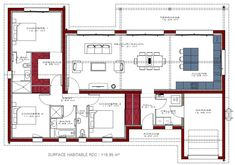 Nice Plan Maison Igc Gaia that you must know, You?re in good company if you?re looking for Plan Maison Igc Gaia The Plan, How To Plan, Cool Apartments, Exterior House Colors, Prefab Homes, Small House Plans, Architecture Plan, Architect Design, Planer