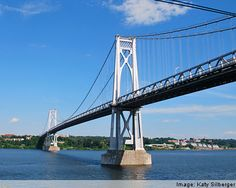 The Mid-Hudson Bridge that connects Poughkeepsie to Highland.