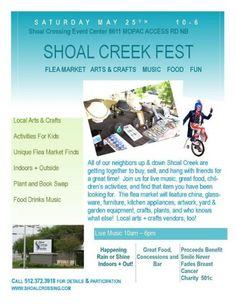 Shoal Creek Fest & Flea Market Austin, TX #Kids #Events