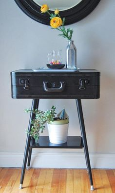 Make And Do the Design*Sponge way: Keeley's suitcase table | House and Home