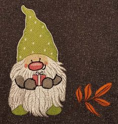 Dwarf machine embroidery design