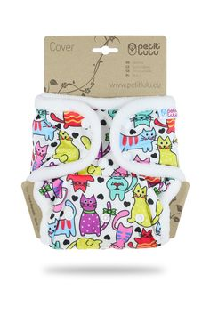 Cats – One Size Cover (Snaps) | Petit Lulu Disposable Nappies, Kids Toddler Bed, Safety Helmet, Animal Alphabet, Changing Mat, Wet Wipe, Baby Monitor, Baby Elephant, Paw Patrol