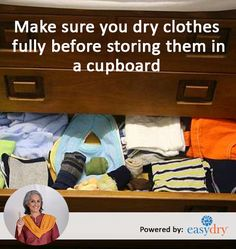 #MonsoonTips Only Store Fully Dry Clothes When it comes to dampness in the #monsoon a little goes a long way. So make 100 percent sure it has dried. In case it does not iron them with very low #heat to give it the final nudge it needs