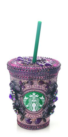 Purple Swarovski Starbucks Cup @Natasha S S C Sofia
