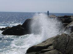 Waves crashing at Peggys Cove Nova Scotia Canada Travel, Personal Photo, Nova Scotia, Niagara Falls, Good Times, Places Ive Been, Destinations, To Go, Waves