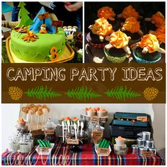 Can't wait have A Great Outdoors Birthday Party :: How to Throw an Awesome Camping Party! 9th Birthday Parties, Boy Birthday, Birthday Ideas, Summer Birthday, Camping Parties, Camping Theme, Camping Ideas, Peach Party, Childrens Party