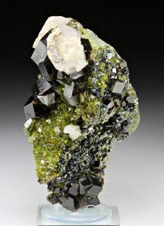 Andradite with Calcite, Epidote
