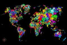 """'World of Colors' Print by Maxwell Dickson, 16"""" x 20"""" - modern - prints and posters - Apt2B"""