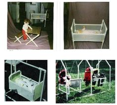 LOTS of PVC pipe ideas including jungle gyms. People are so creative!