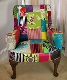 You can see this my latest chair at the Funky Fairy  new store just opened in Westfield Centre Stratford  please show your support  we personalise chairs they can personalise anything fabric