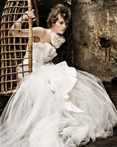1950's style wedding dress