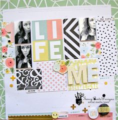 @fancypantsdsgns NEW collection #OfficeSuite by @nicolenowosad #scrapbooking #layout #12x12 #papercraft