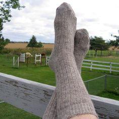 Wool Socks  60% Alpaca Fleece, - 20% Corriedale Sheep Fleece - 20% Nylon  The 60% alpaca in these socks is from my own backyard critters.The 20%