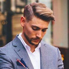 Hard Part Haircut, Side Part Haircut, Side Part Hairstyles, Funky Hairstyles, Feathered Hairstyles, Wedding Hairstyles, Fringe Hairstyles, Summer Hairstyles, Cool Mens Haircuts
