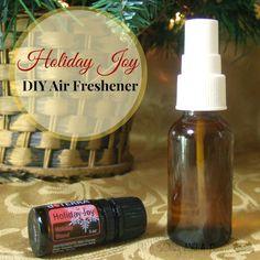 Enjoy a lovely holiday joy DIY air freshener. #DIY #home