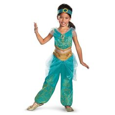 Disney's Aladdin Jasmine Sparkle Deluxe Girls Costume | Disguise 59226 | eBay