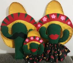 Compre Cactus Mexicanos em Feltro no Elo7 por R  35 3e06eba2da6