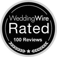 We just earned the WeddingWire Rated Black badge for receiving 100+ reviews! http://wed.li/wwrated