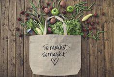 To market, to market #farmersmarket #bag