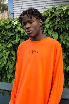 1dd070cd7 Orange Longsleeve Tee - BLVCK CLOTHING Affordable Streetwear Shop